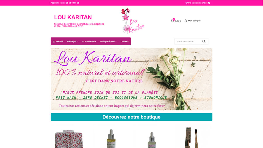 Lou Karitan - Création du site internet - Idioma Production