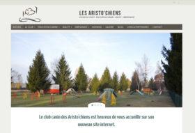 Site internet Club canin Les Aristo'chiens
